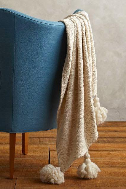 Tassel Blanket Tutorial DIY Home Decor  Accessories Pinterest