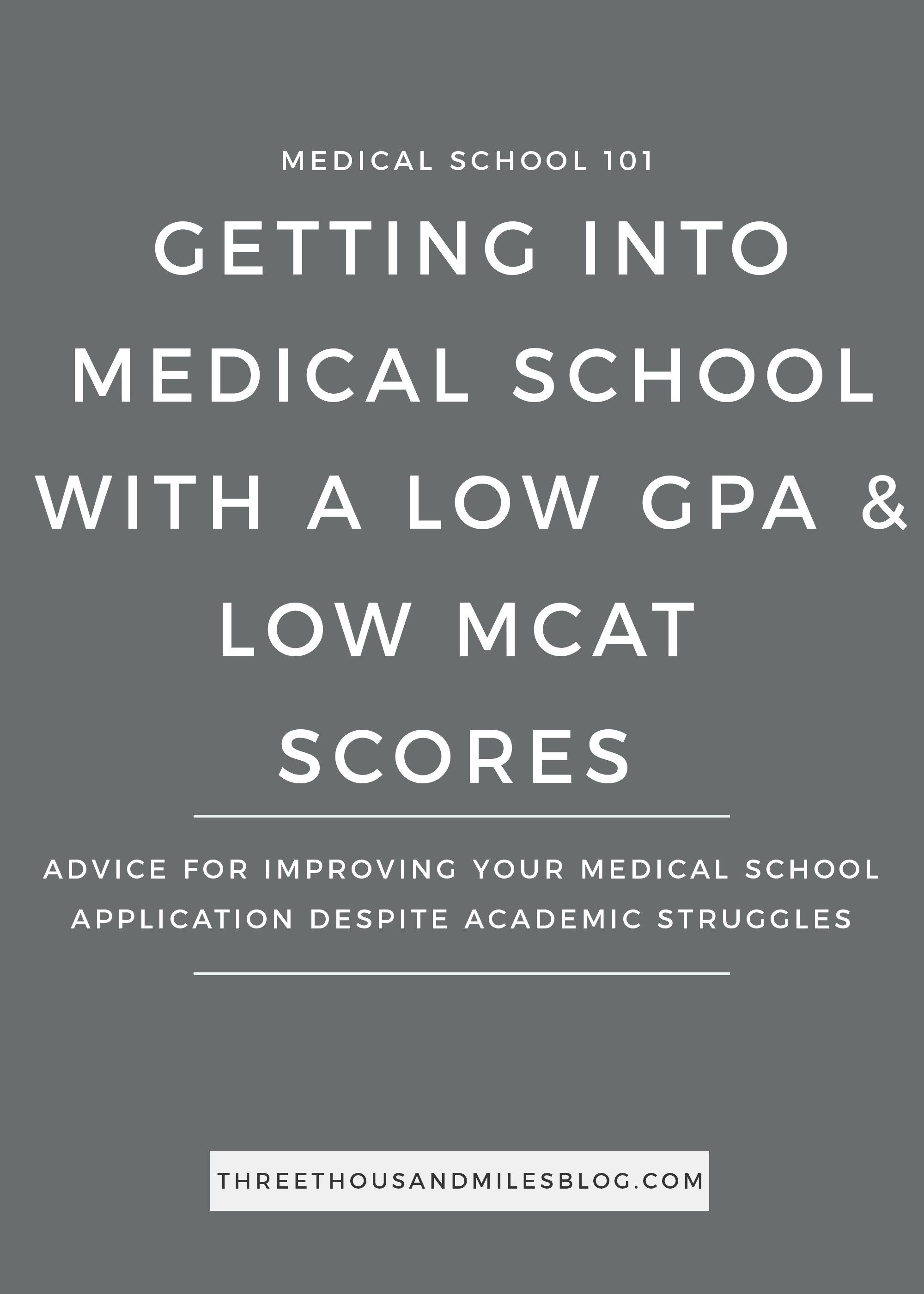 How to Get Into Medical School With a Low GPA and MCAT