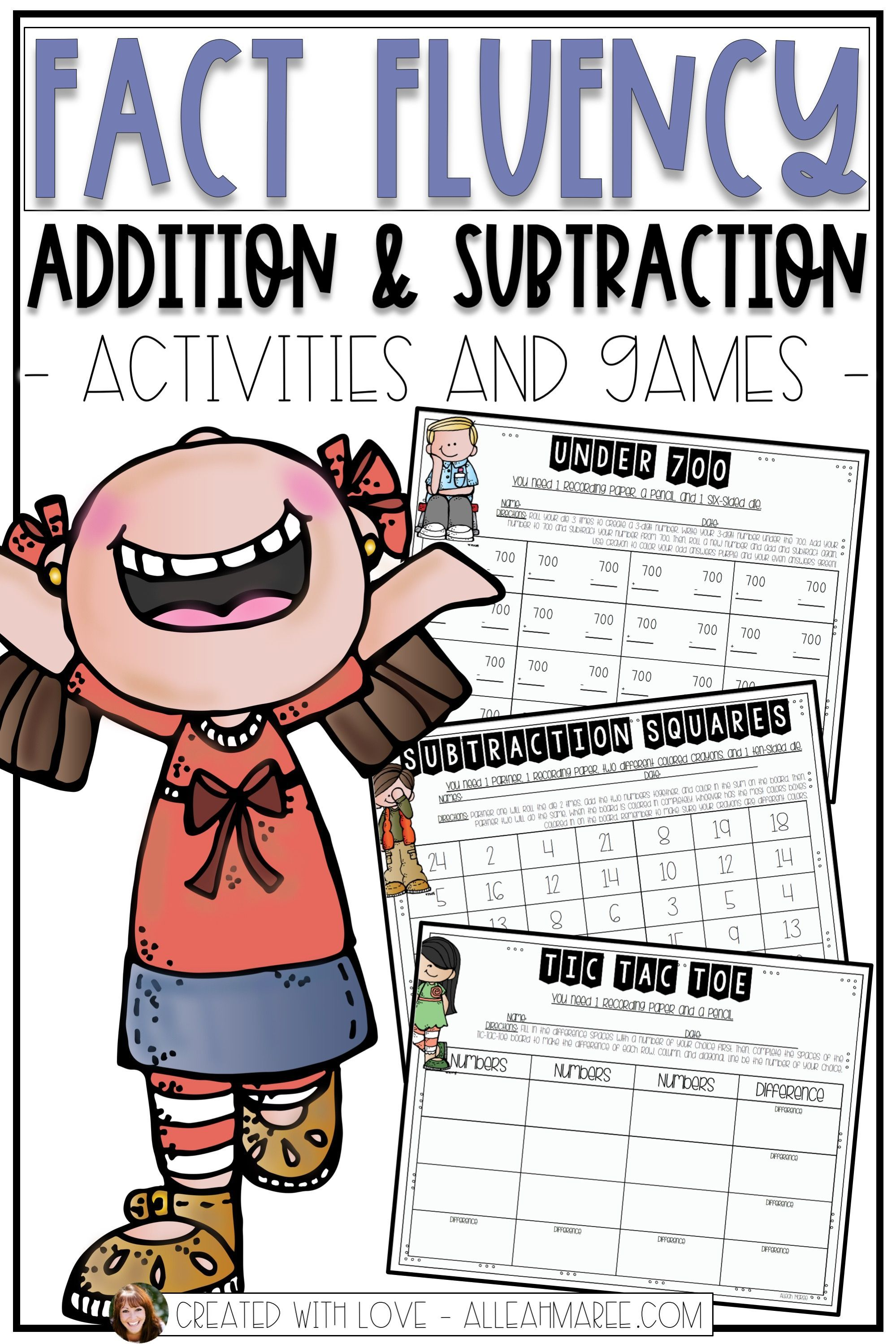 Fact Fluency Addition Amp Subtraction Activities And Games