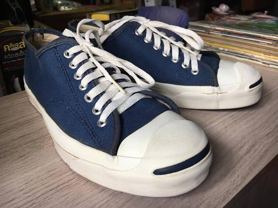 4becac41741b8f Vintage Converse Jack Purcell 1980 s USA Size 8 Navy