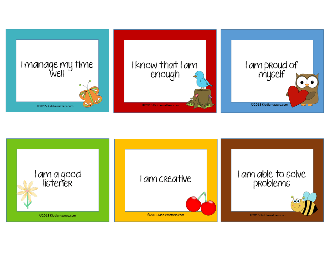 4 Tips For Teaching Children Affirmations For Self Esteem W Free Printable