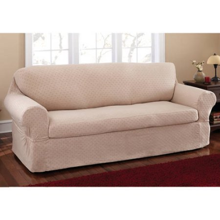 Mainstays Stretch Conrad 2 Piece Sofa Furniture Cover Slipcover ...