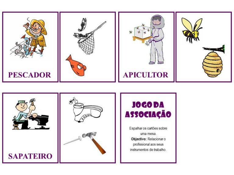 Jogo Quem Sou Eu Das Profissoes Educacao Educacao Infantil Planos De Aula