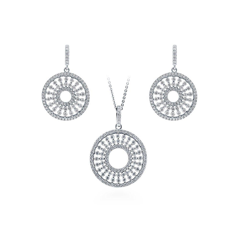 Bonyak Jewelry 18 Inch Rhodium Plated Necklace w// 4mm Jet Birth Month Stone Beads and Saint Maurus