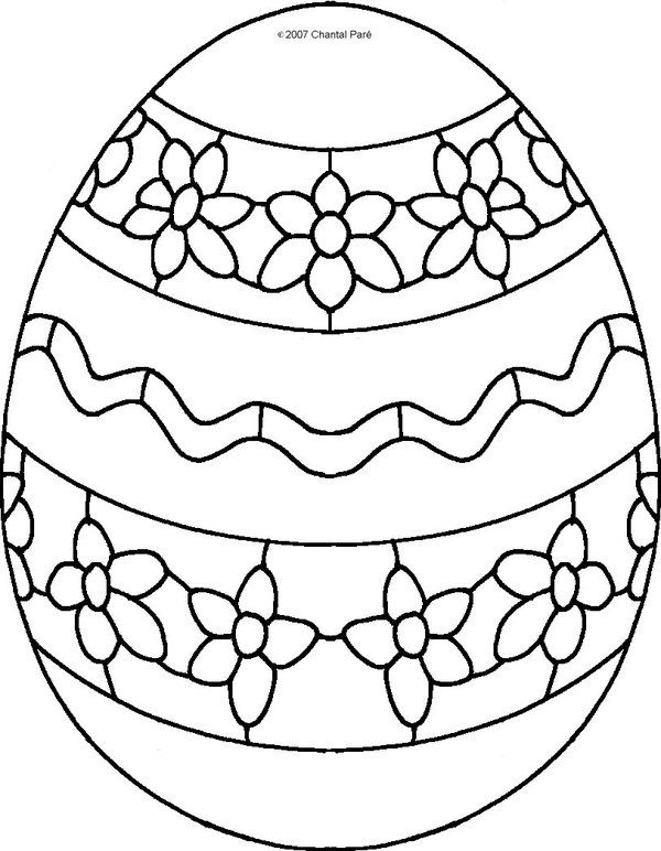 decorating easter egg coloring pages kids picture 19
