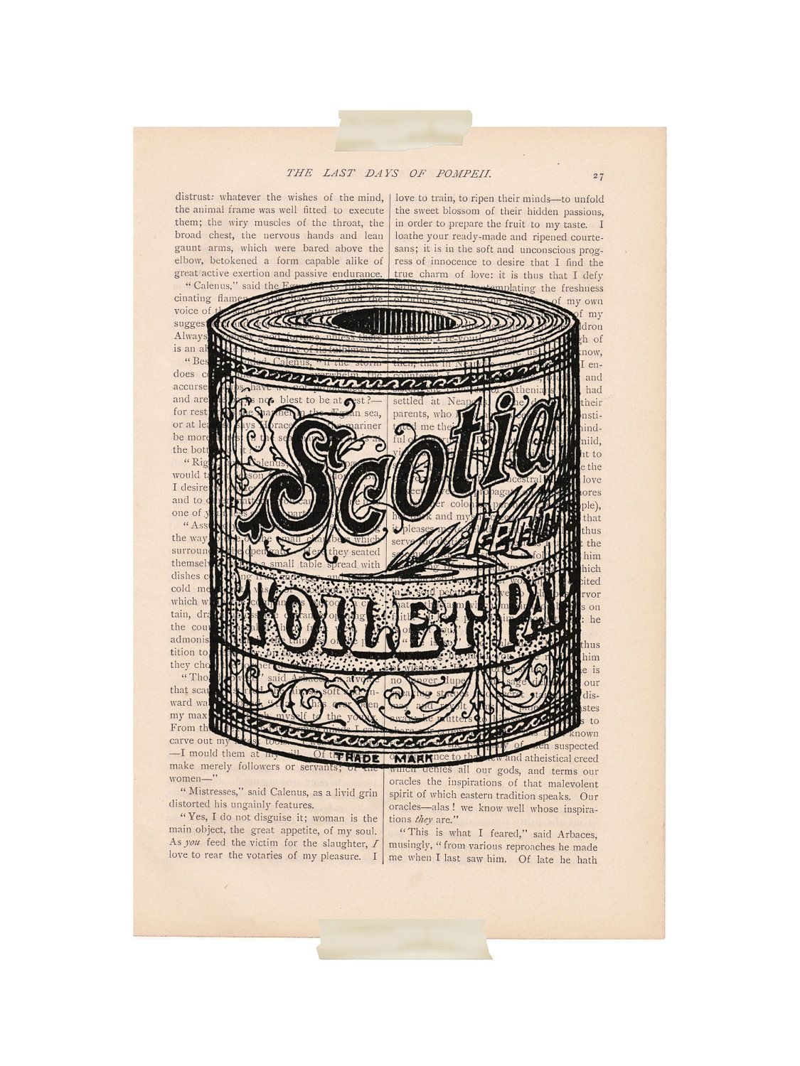 dictionary art print vintage bathroom decor by 900