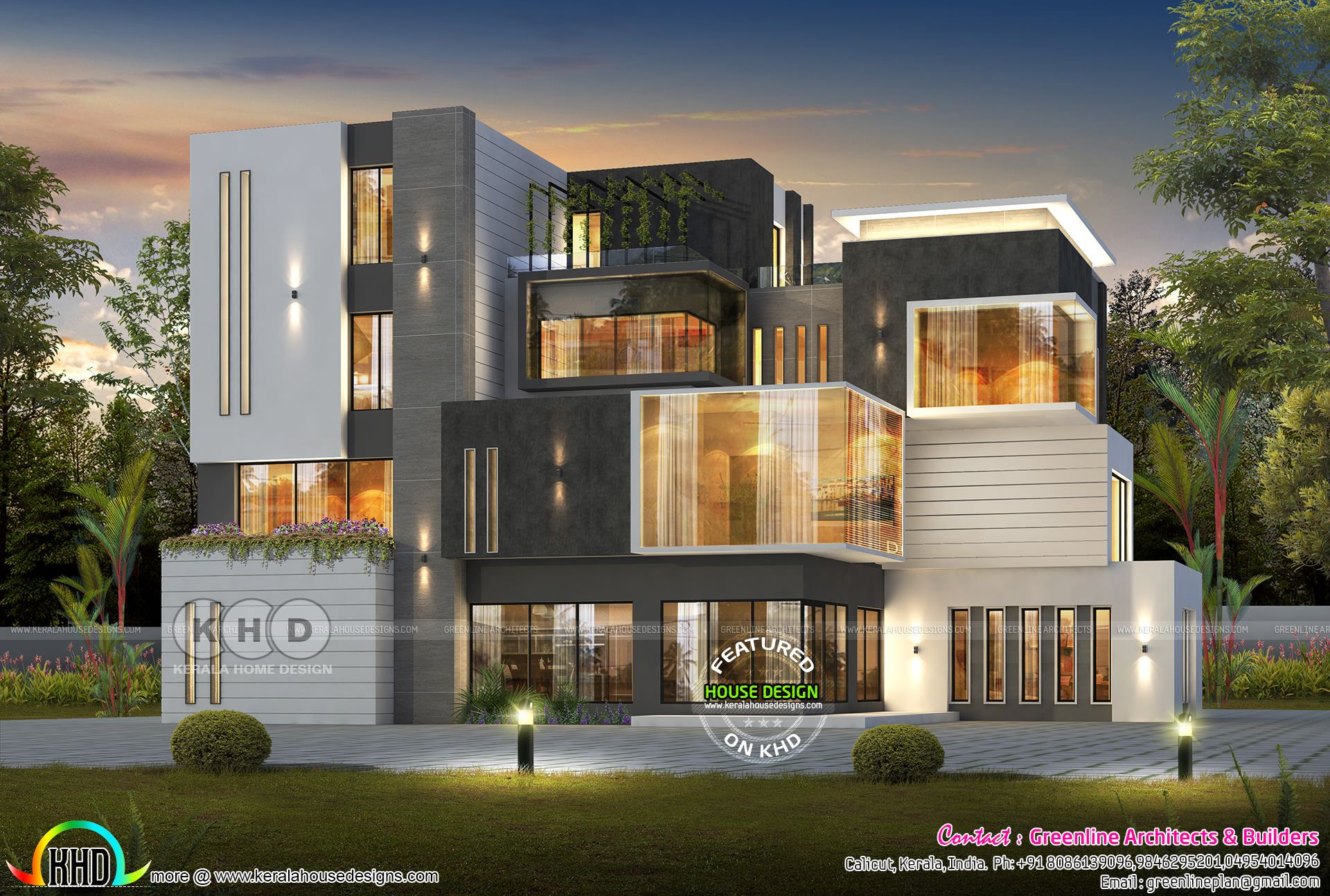 7 Bedroom Box Model Ultra Modern Home Ultra Modern Homes House Architecture Design House Designs Exterior