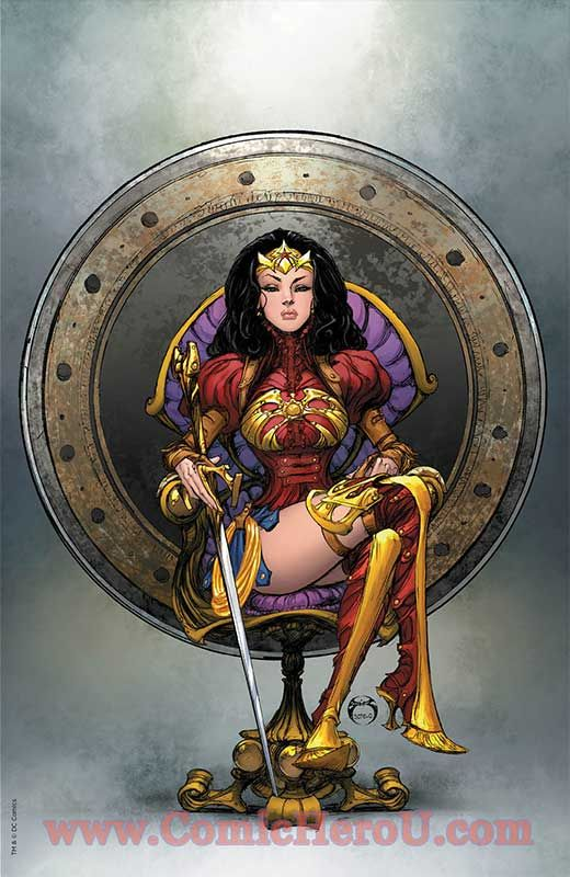 27d57dc23a39 This is kind of corny.. but could work for a formal dress for Diana when  she is not fighting crime   Wonder women   Mulher maravilha, Super herói,  Mulher