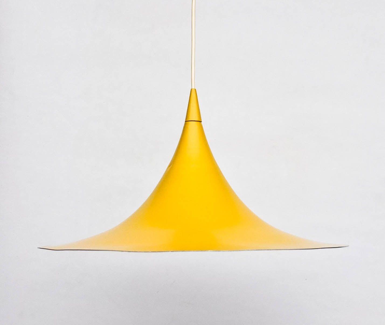 Mid century drum lampshades pendant light fixtures - Vintage Trumpet Ceiling Light Pendant Lamp Danish Design Lamp Mid Century Yugoslavia
