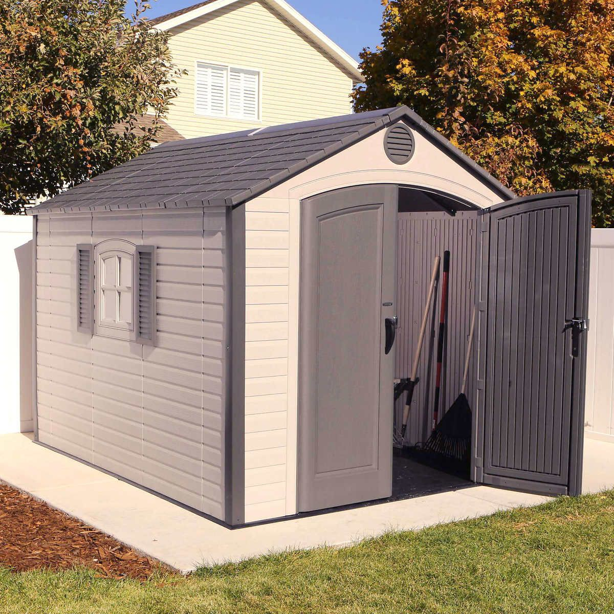Pin By Erin Terry On Shopping List Building A Shed Outdoor Storage Sheds Wood Shed Plans
