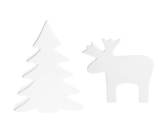 Deko-Objekt-Set Winter I, 2-tlg, weiss