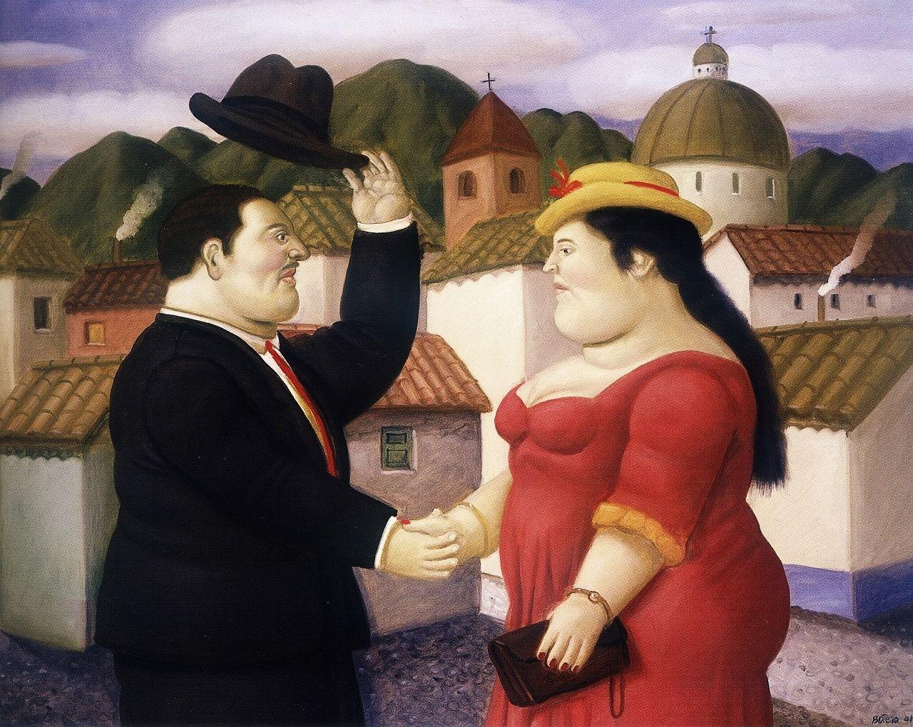 FERNANDO BOTERO (1932) - Hombre y Mujer - 2001.   Fernando botero ...
