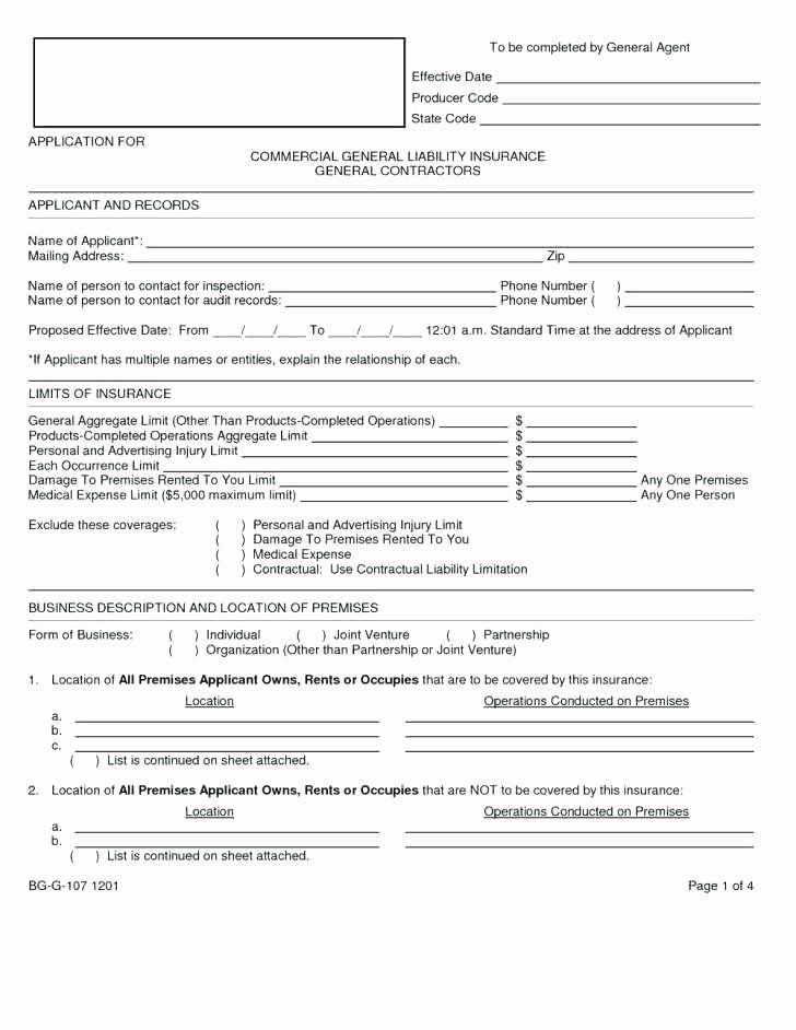 30 General Liability Waiver form Template in 2020 ...