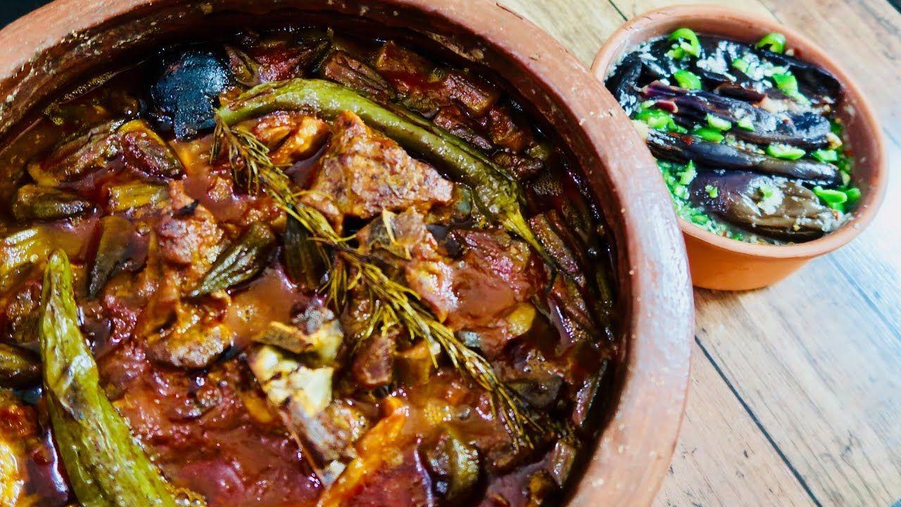 طاجن البامية باللحمة الضانى Mutton In A Pot Recipe Recipes Food Yummy Food