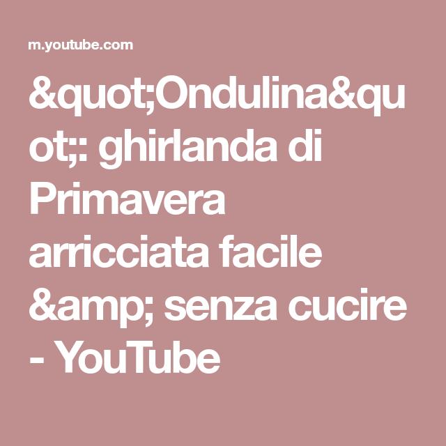 """Photo of """"Ondulina"""": ghirlanda di Primavera arricciata facile & senza cucire"""