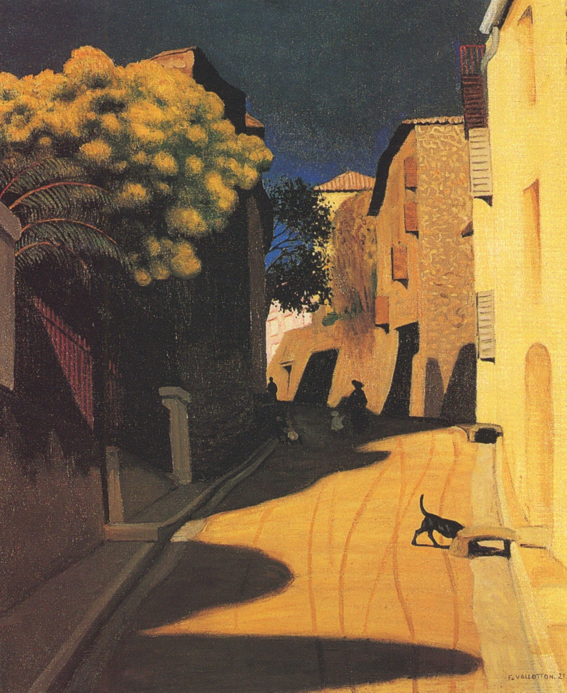 Felix Vallotton - Mimosa with Flowers at Cagnes (1921) | Painting ...