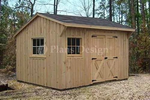 Garden Sheds 12 X 12 details about 10' x 12' utility garden saltbox style shed plans