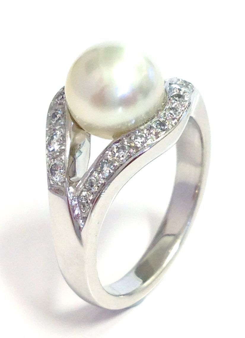 mikimoto white diamond rings srwxzsy pearl engagement ring newest gold