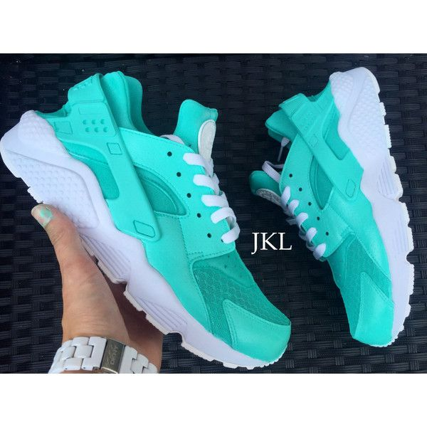 c2047b349a5f Tiffany Nike Air Huarache Customs White Sole Huarache Unisex Nike... ( 185)  ❤ liked on Polyvore featuring shoes