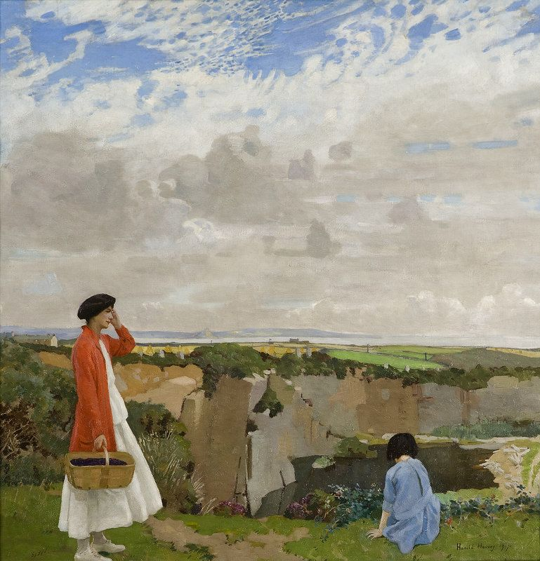 Blackberrying, Harold Harvey, 1917, oil on canvas, image courtesy of South Shields Gallery | by RWA Press