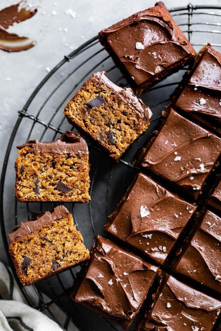 GlutenFree Tahini Snack Cake with Chocolate Buttercream