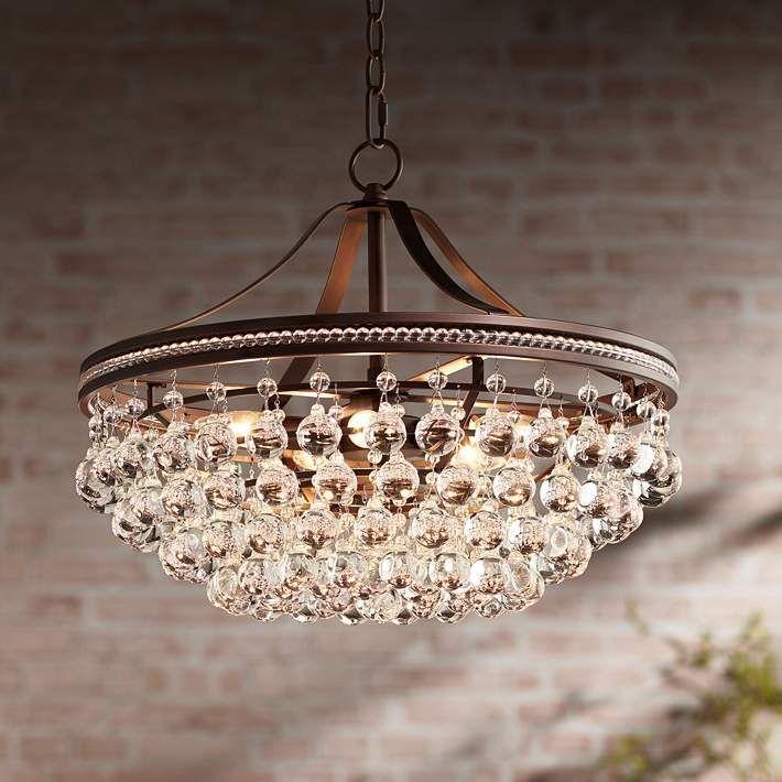 Wohlfurst 20 1 4 W Bronze 5 Light Crystal Pendant Light 1k583 Lamps Plus In 2020 Crystal Pendant Lighting Crystal Pendant Pendant Light