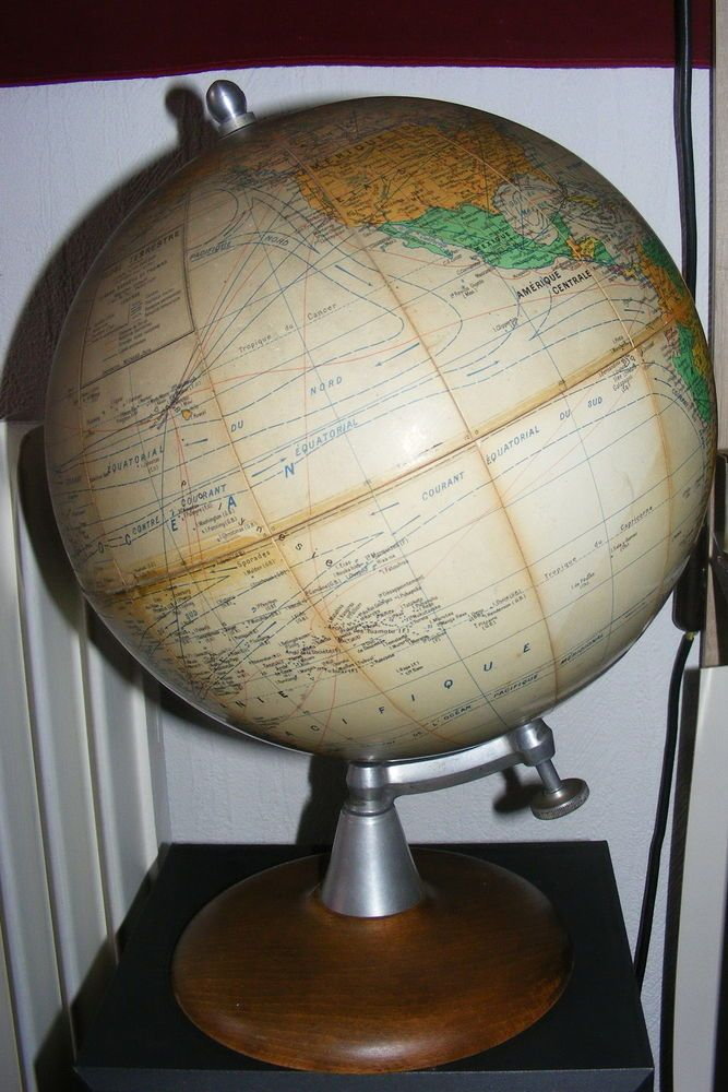 ancien globe terrestre mappemonde girard barrere et thomas globes pinterest globe. Black Bedroom Furniture Sets. Home Design Ideas