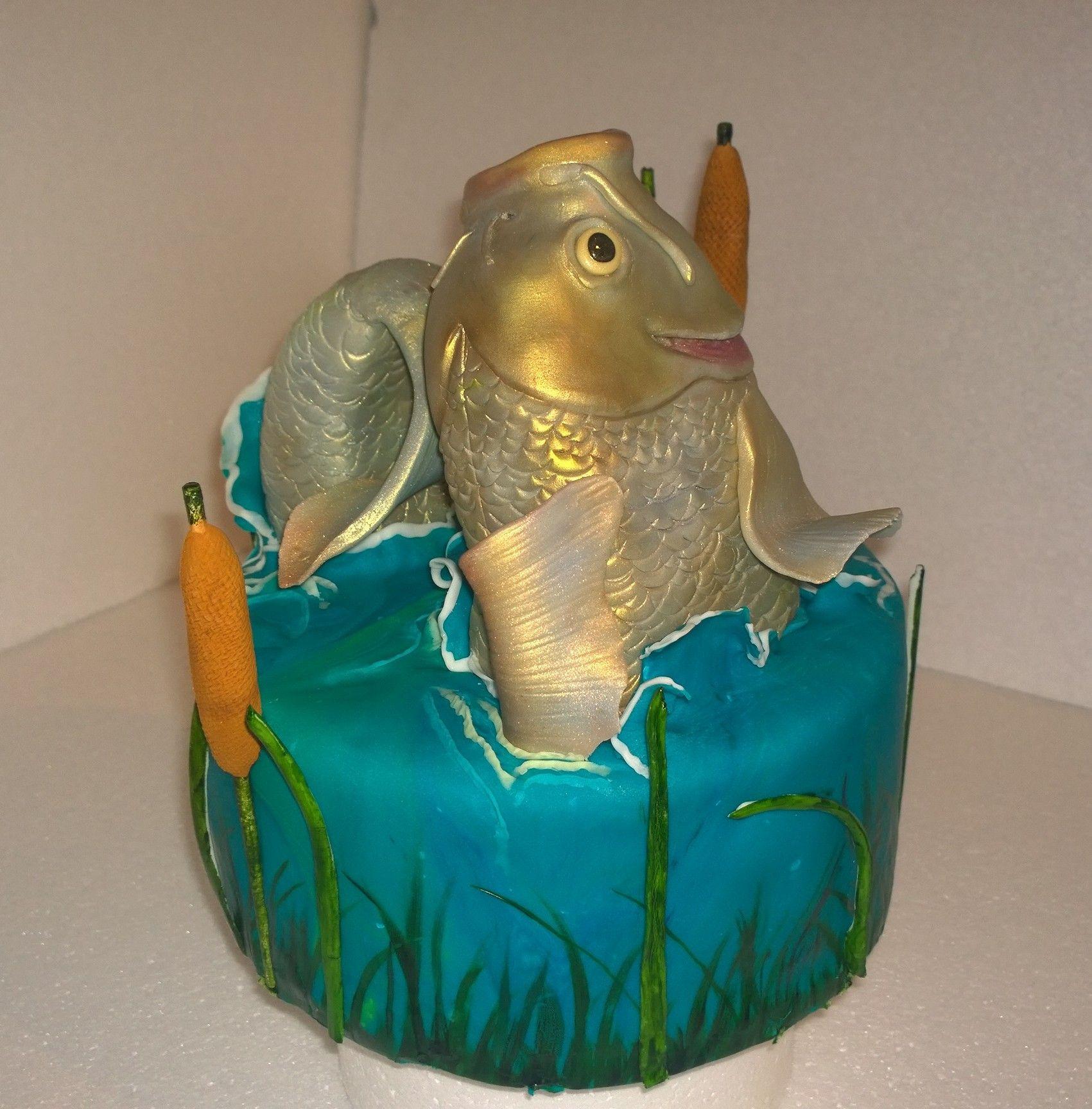 Big Fishns Birthday Cake Idea Fishing Carp Rzn