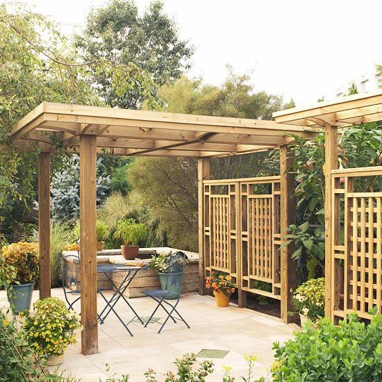 pergola de jardin en bois 20 super id es de design. Black Bedroom Furniture Sets. Home Design Ideas