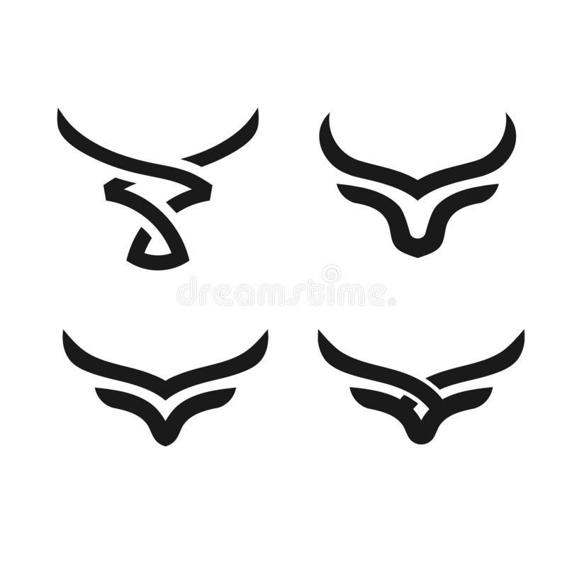 Abstract Simple Bull Head Vector Logo Stock Vector Illustration Of Logotype Horns 129850794 In 2020 Bull Tattoos Taurus Symbol Tattoo Taurus Logo