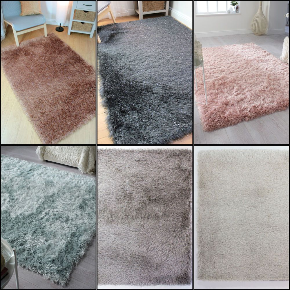 Long Pile Quality Thick Sparkle Silky Shiny Shimmer Soft Shaggy Mat Rug Carpet Ebay Rugs On Carpet Buying Carpet Patterned Carpet