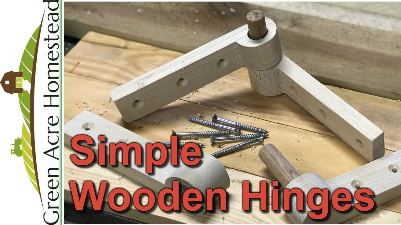 How To Make Some Simple Wooden Hinges Diy Youtube Wooden Hinges Wood Hinges Hinges Diy