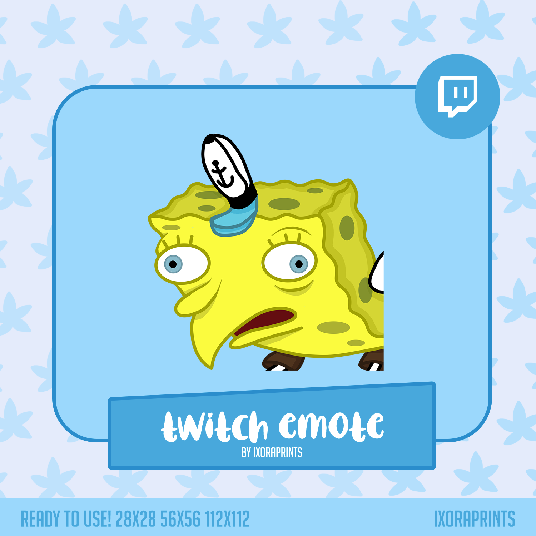 Mocking Spongebob Meme Twitch Emote For Streaming Emote For Etsy In 2021 Mocking Spongebob Meme Mocking Spongebob Spongebob