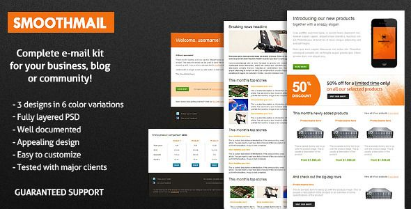 SmoothMail EMail Template Newsletter Templates And Template - Mail newsletter template