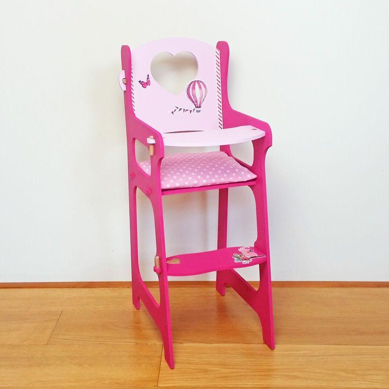 Chaise Haute De Poupee En Bois A Decorer Pour Jouer Avec Chaise Haute Meuble Jouet Chaise Haute Poupee