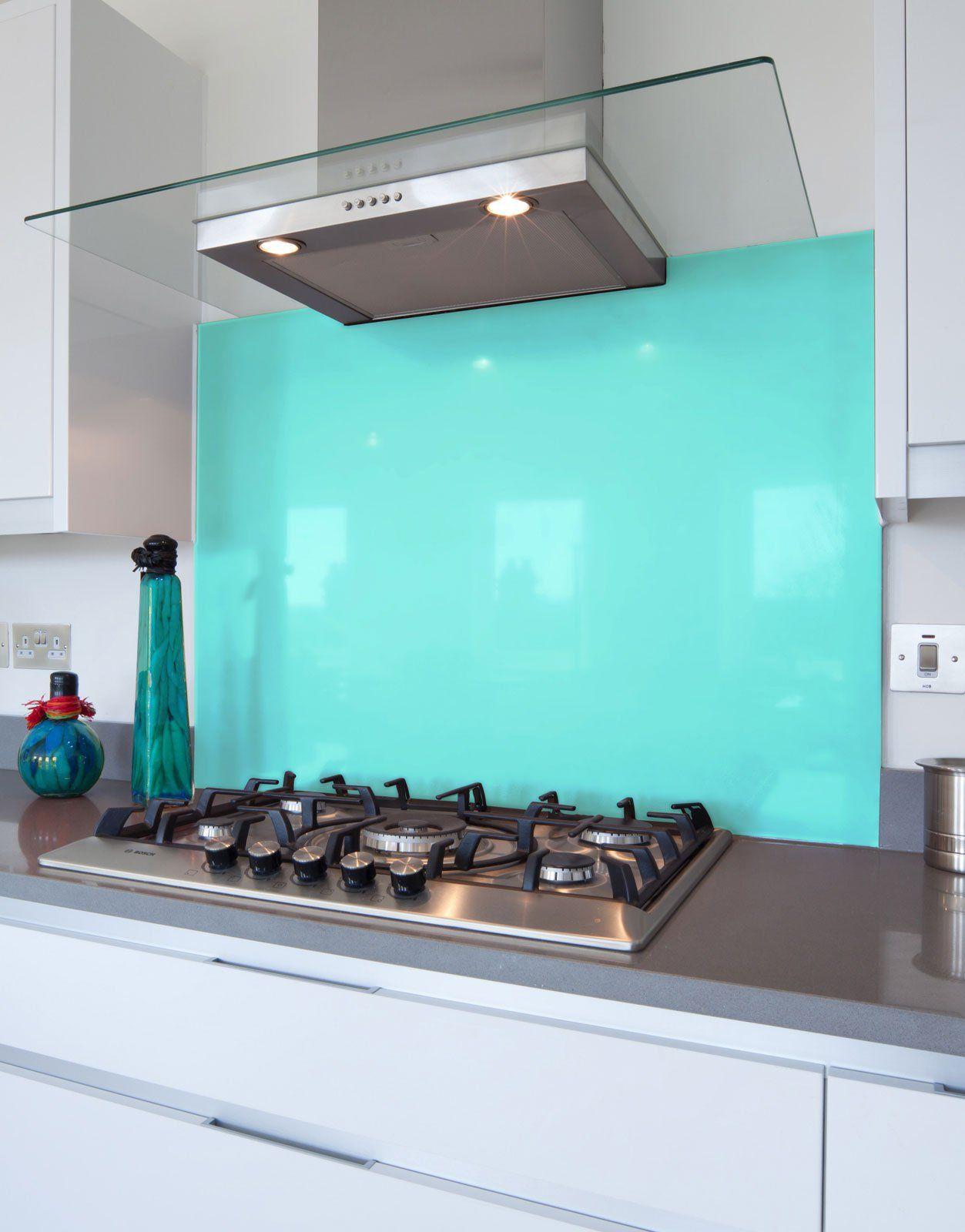 Aqua Glass Hob Splashback | Aqua, Glass and Aqua glass