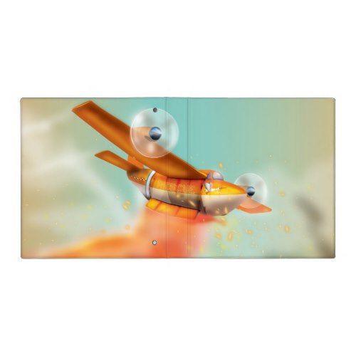 Ariel Firefighting Fire Plane 3 Ring Binder
