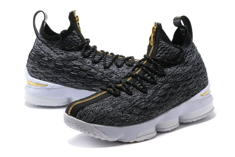 c713d591bbd KITH x Nike LeBron 15 Mens Original Basketball Shoes Coal Black Gold White