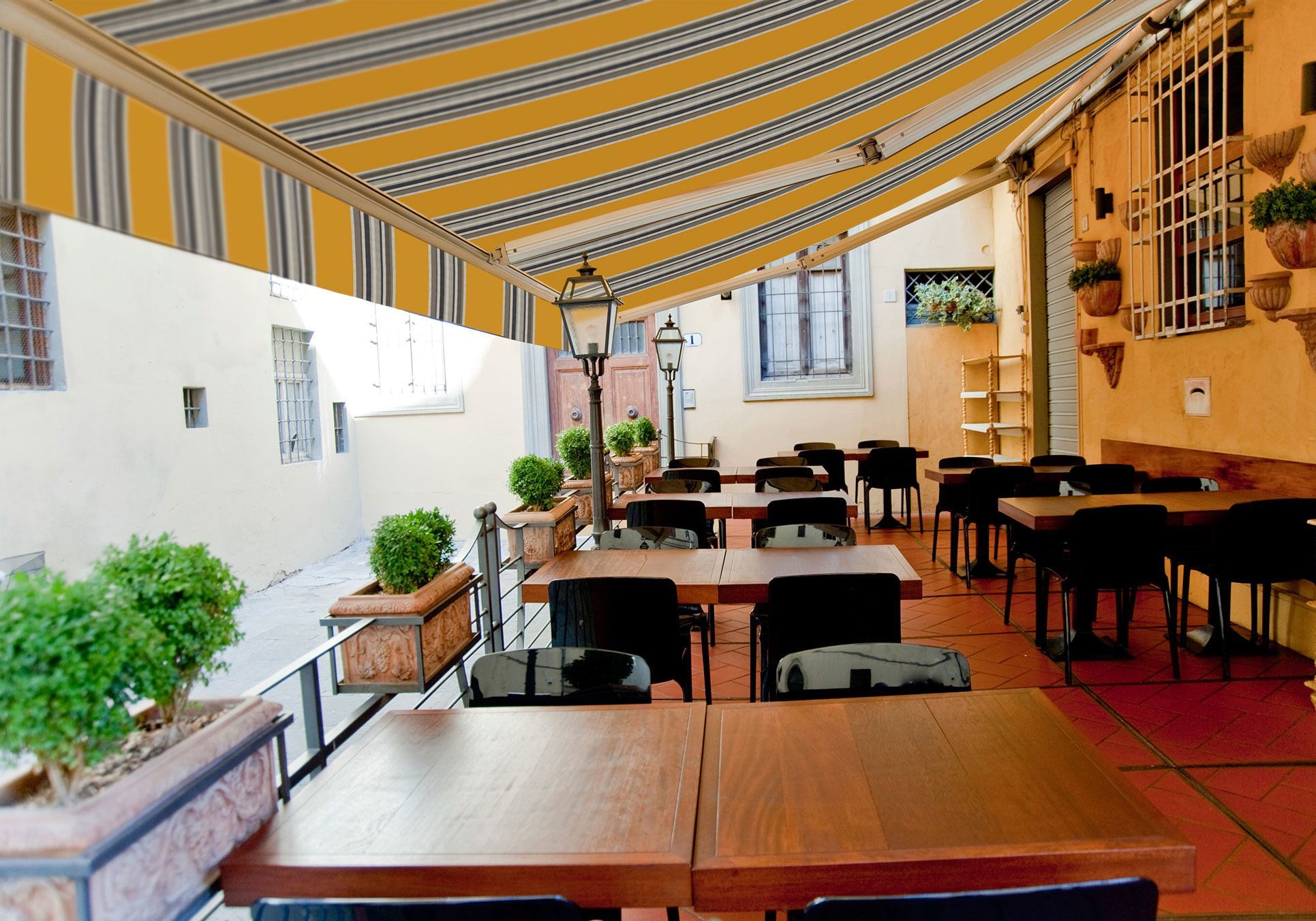 Luxury Series Fabric Retractable Standard Patio Awning ...