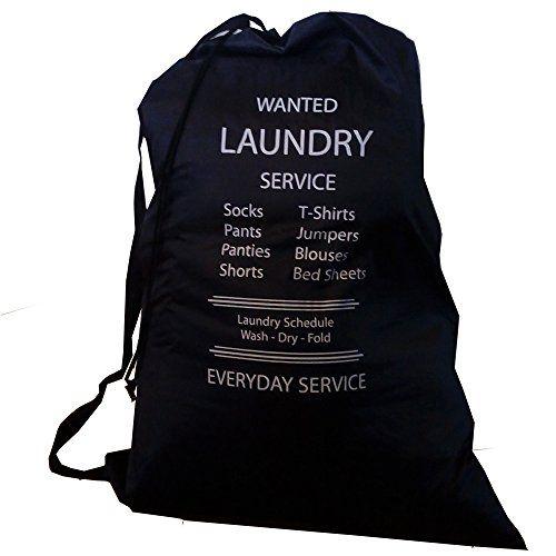 Wajt Najt Best Laundry Bag With Reinforced Shoulder Strap And Drawstring Large Size 28