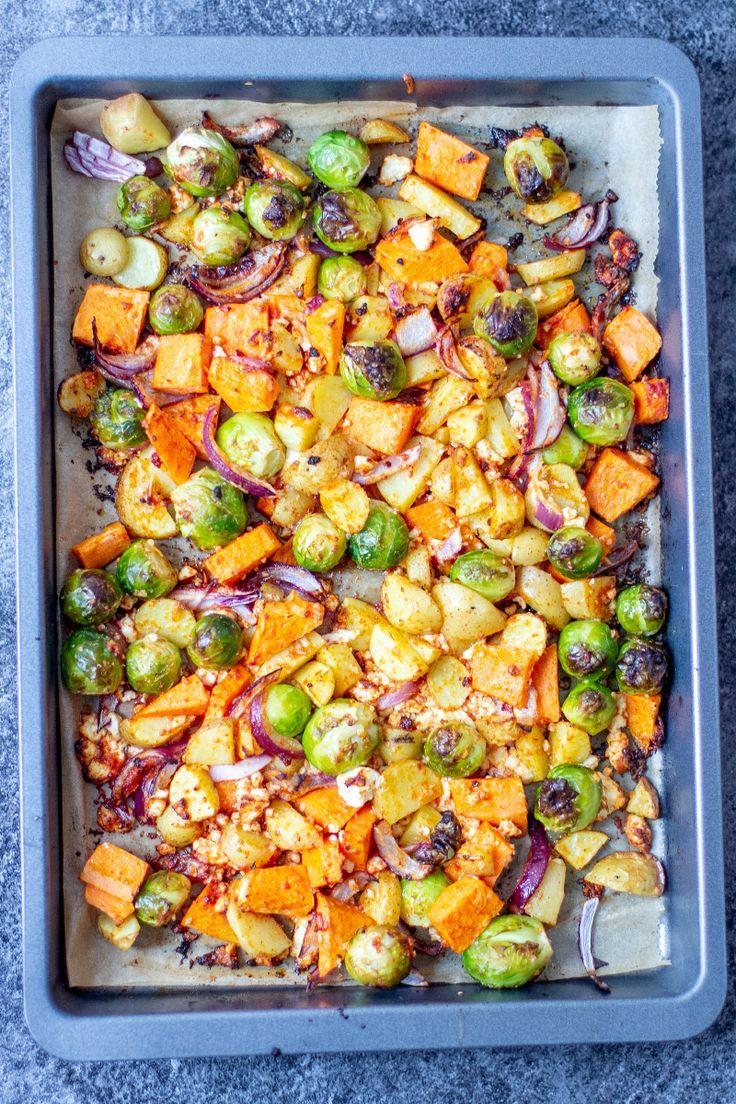 Schnelles Ofengemüse mit leckerem Wintergemüse #recipeshamburgermeat