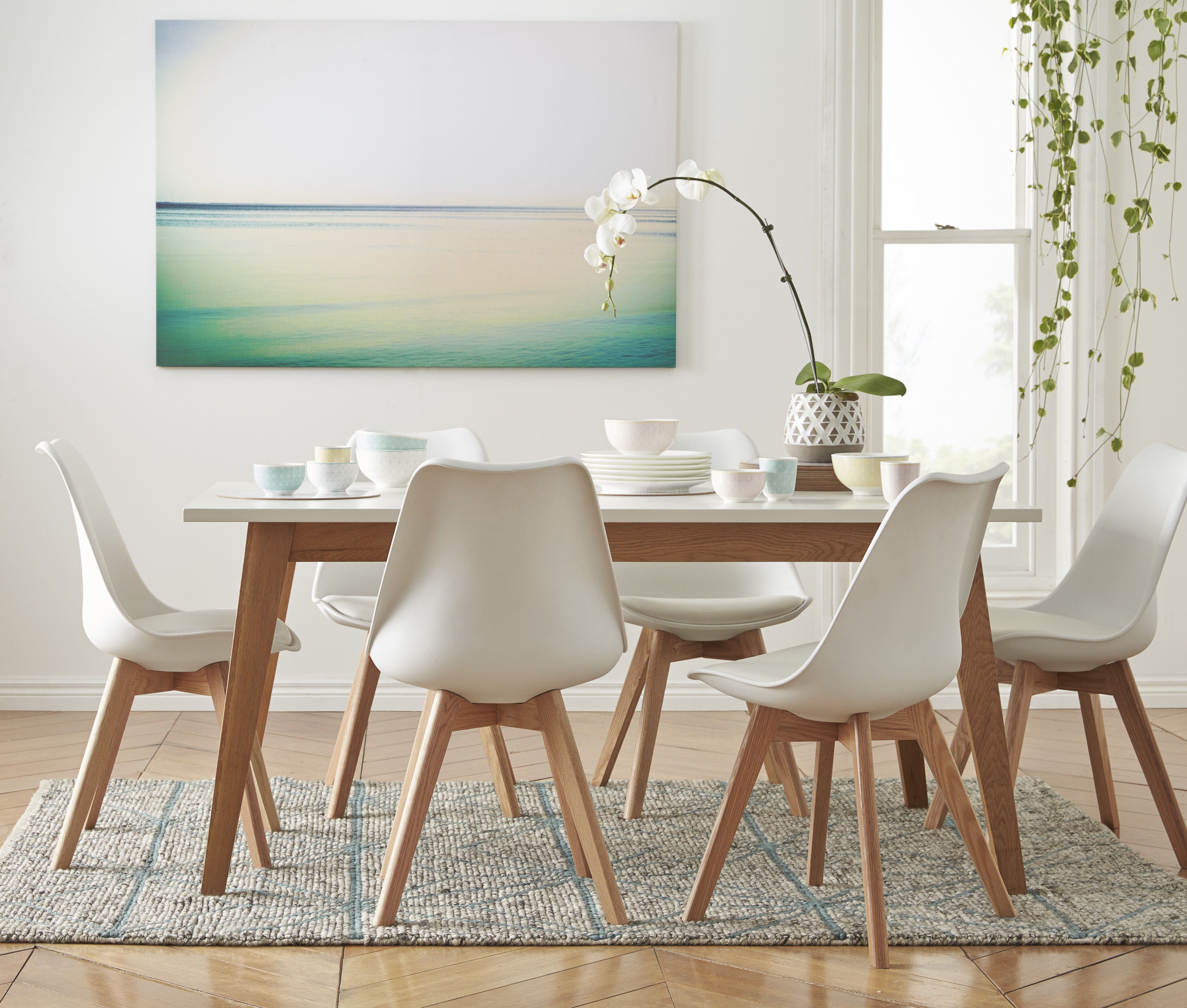 oak and white dining chairs play table for toddlers frieda 160x90cm in 699 freedomaw15 freedomaustralia