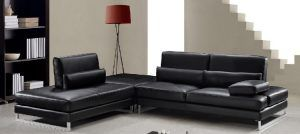 Black Leather Sofa Sectional Black Leather Sofa Less Than 80 Inches