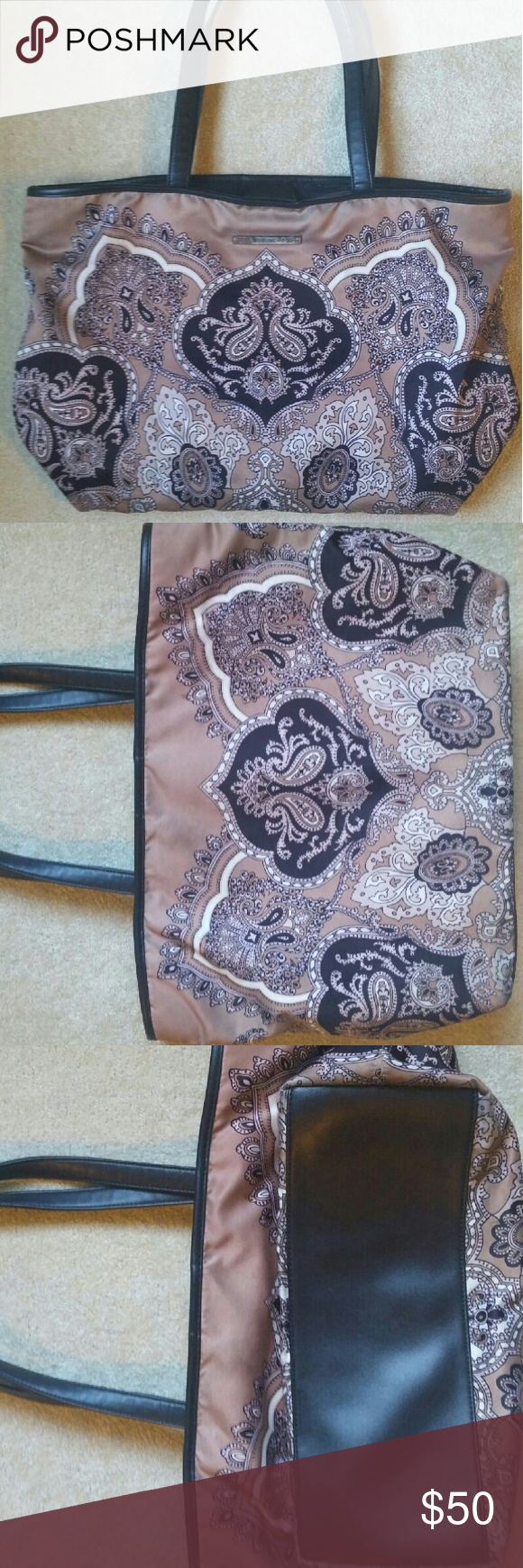Hale Bob tote bag Gorgeous print. Minor blemishes. Handled have cracks, reflected in price. Bags Totes