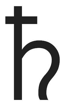 Saturn Symbol | Aquarius Jan 20 Feb 18
