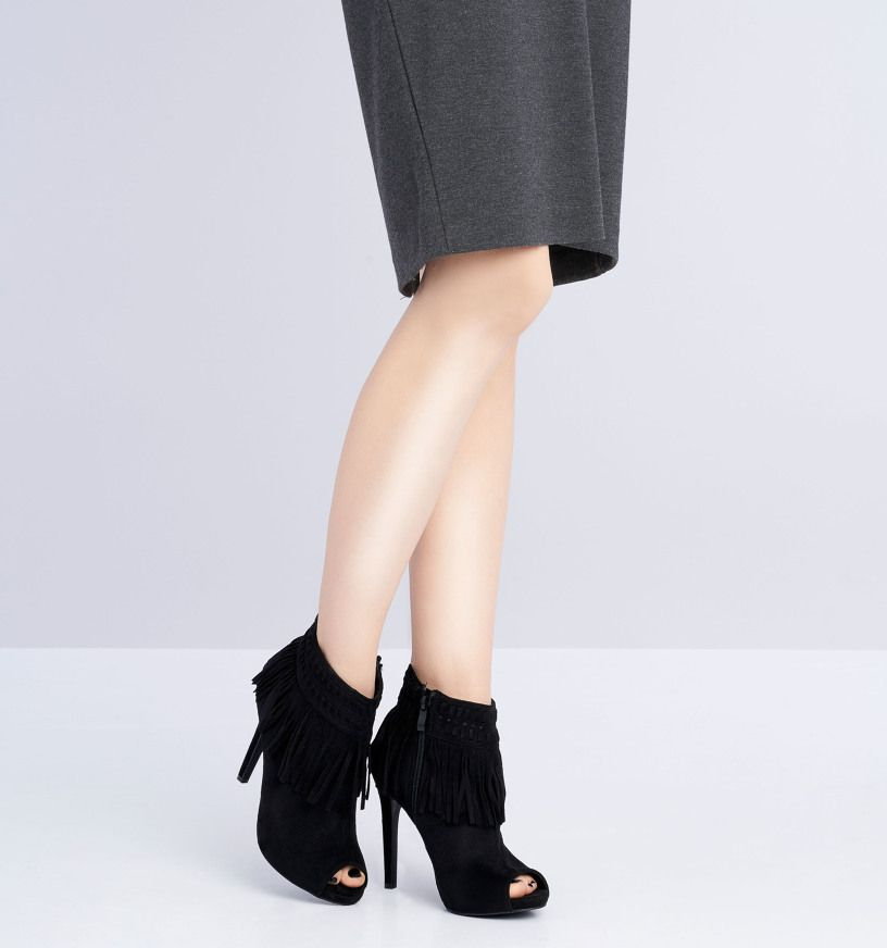 Czarne Botki Machiko Born2be Pl Heels Fashion Shoes