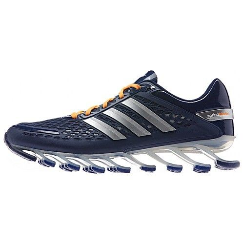 Cheap Adidas 2014 Springblade II Navy Silver Orange Men's Running shoes  Online