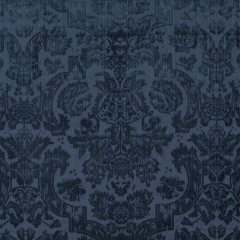 Grantham velvet damask navy velvets fabric products ralph lauren home