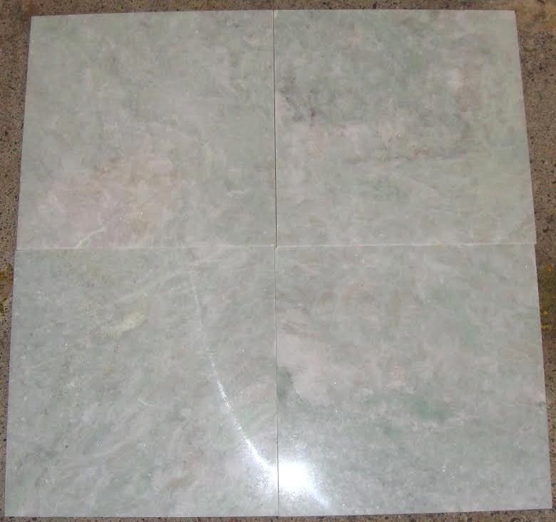 Ming Green Marble Polished 12x12 Floor Tiles Bathroom Flooring