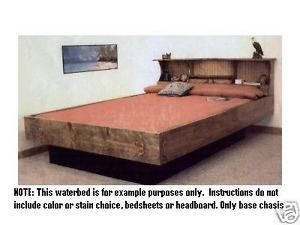 Waterbed Water Bed Frame Plans To Build Your Own King Queen Full Or Twin Bed Frame Plans Water Bed California King Bed Frame